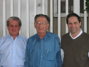 Left to right: Douglas Greenberg, Dr. Yehuda Bauer (renowned Holocaust historian), and Ari Zev, Vice President for Administration for the Shoah Foundation