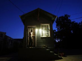 The long, narrow layout of the shotgun house is such that a person could shoot through the front and out the back door without hitting a wall -- supposedly.