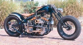 The Shovelglide is a custom chopper with an 88-cubic-inch engine. See more motorcycle pictures.