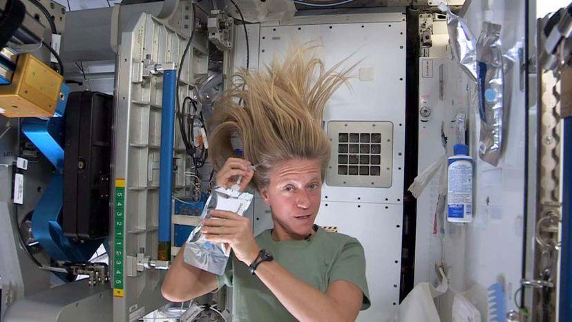 showering in space