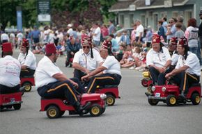 There's no big history or ritual behind the little cars, but they do help Shriners distinguish themselves in parades.