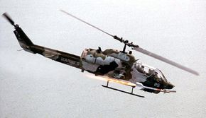In addition to fighter jets, you'll also find Sidewinders on attack helicopters, like this AH-1W Cobra.