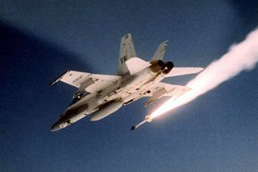 An F/A-18 firing a Sidewinder