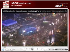 NBC used Silverlight to broadcast Olympic events over the Web to certain users in the United States.