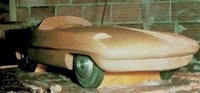 Exner began the design process toward the Simca Special with a small-scale clay model.