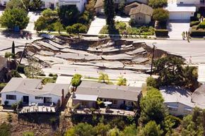 Aren't you glad you don't live there? A landslide caused this 200-by-240-foot sinkhole near San Diego, Calif. Watch natural disaster videos.