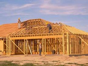 With so many pieces to be assembled, it's easy to see why stud frame houses can take lots of time and labor to build.