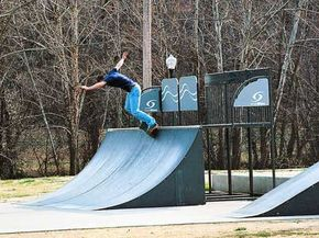 Skate parks and ramp skating became popular in the 1980s.