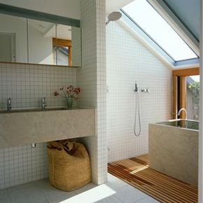 Adding a skylight or several skylights in a home can increase the amount of natural sunlight coming in and make rooms feel more spacious. See more home design pictures.