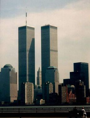 The two towers in New York's World Trade Center stood 1,360-feet (415-meters) tall, with a massive steel truss at their core.
