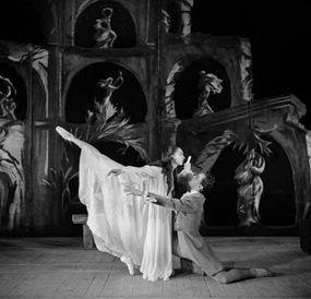 "1958: Nina Vyroubova and Serge Golovine in ""The Sleepwalker,"" by International Ballet of the Marquees de Cuevas"