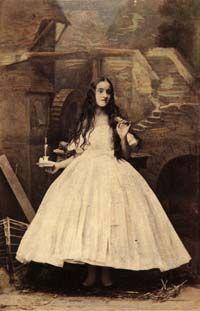 """Circa 1865: Italian-born British operatic soprano Adelina Patti in the opera """"La Sonnambula"""""""