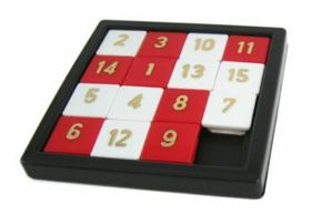 The classic 15 Puzzle kicked off a sliding puzzle frenzy in the 1880s, and is still manufactured today.