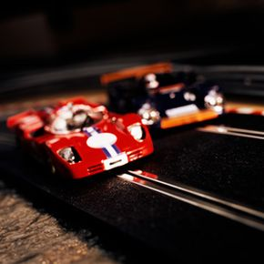 Slot car racing has remained a popular hobby for decades. See more pictures of toys.