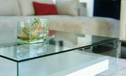 Acrylic would also work well, and it's oh so chic right now.