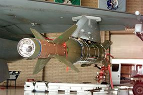 This smart bomb, the Enhanced Guided Bomb Unit-27, has an optical sensor system, an onboard computer, adjustable flight fins and a battery that powers everything.