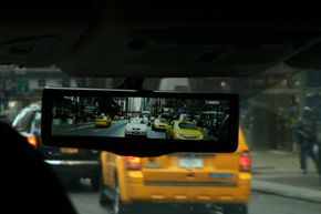 Nissan's Smart Rearview Mirror is the world's first LCD monitor that helps you see more clearly what's behind your vehicle when you're driving down the road.