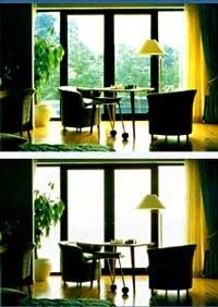 These SwitchLite Privacy Glass™ windows go from clear to translucent in an instant.