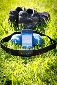 Bluetooth can link your phone to lots of different peripherals, including this Beets BLU heart rate monitor.