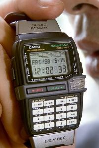 Smart watches aren't a new concept. Casio introduced this Easy Rec watch in 1999. Its key feature was the ability to record 30-second audio memos.