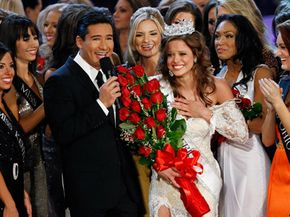 The losing Miss America contestants probably aren't getting much of an emotional boost from their artificial smiles.