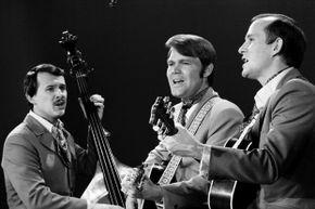 Dick Smothers, Glen Campbell and Tom Smothers on 'The Smothers Brothers Comedy Hour' in 1969.