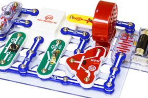 Snap Circuits toys, like this musical recorder, allow children to safely create working electrical circuits.