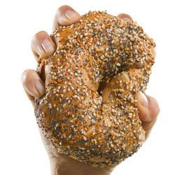 Whole grains masquerading on a bagel might just get gobbled up -- if there's grape jelly involved.