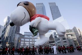 The character of Snoopy has shown up in many forms, from Sno-cone purveyor to giant parade balloon.