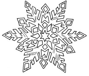 Examine the differences between snowflakes.