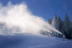 Winter Sports Image Gallery Super Wizzard snow guns at work in Deer Valley, Utah. See more pictures of winter sports.