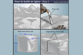 If you're curious about all of the steps involved in building an igloo, check out our article on How Igloos Work.
