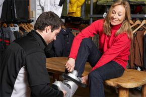 An experienced retailer can help you to sort through the many ski boot and snow ski options.