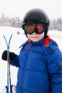 Kids and others learning how to ski often start on short skis, which can be much easier to maneuver than their longer counterparts.