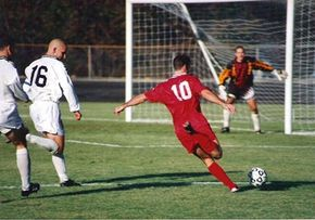 A soccer game in progress. See more sport pictures.