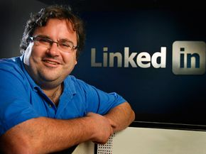 Reid Hoffman, LinkedIn founder and chairman, poses for a picture at the business networking company's headquarters in Mountain View, Calif. See more pictures of popular web sites.