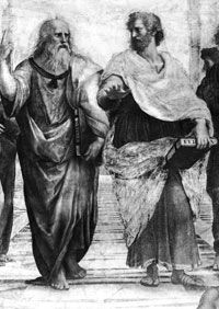 Plato, shown here with Aristotle, wrote about a society similar to the utopia Thomas More described.