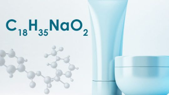 How does sodium stearate work in skin cleansers?