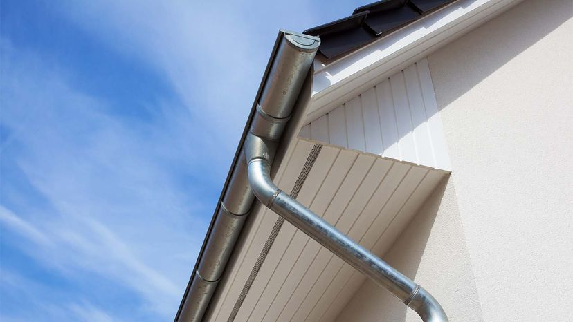 eaves with gutters