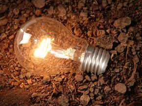 The soil lamp relies on those same principles that make a potato or lemon clock work. See more green science pictures.