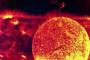 Skylab took this image of a solar flare erupting in 1973. Solar flares are just one of the sources in our solar system capable of generating cosmic rays.