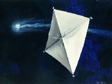 Solar sails use the sun's energy to propel spacecraft across the cosmos. See more pictures of space exploration.