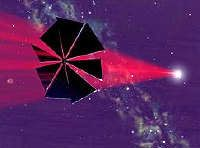 Solar sails will use the sun's energy to propel spacecraft.