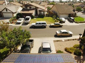 Solar shingles on a home in San Diego, Calif. See more pictures of green living.