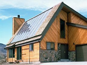 This house in Golden, Colo., features a solar water heating system. See more green science pictures.