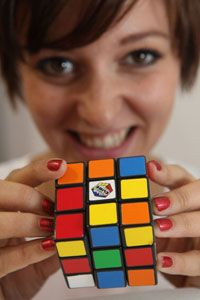 How do you get all six sides of a Rubik's Cube the same color? See more pictures of toys and games.