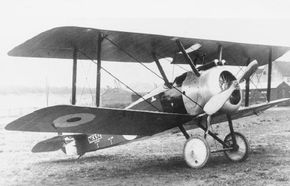 The Sopwith Camel F.1 is one of the most famous of all warplanes. It was maneuverable but had tricky handling quirks, among them a tendency to pull rightward because of the large, high-torque rotary engine.