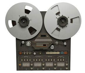 Before computer editing, sound editors used reel-to-reel audio tape players to record sound.