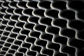 Soundproof foam is not the most attractive material (think: mental ward), but it does work.