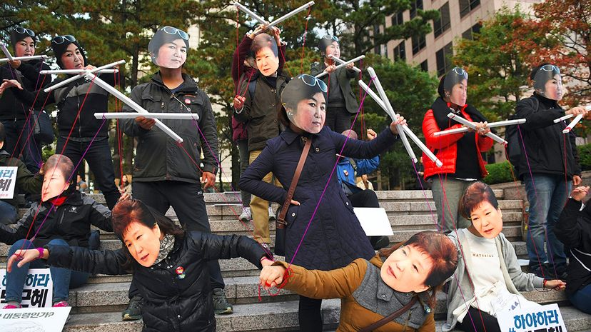 Park Geun-hye Choi Soon-sil